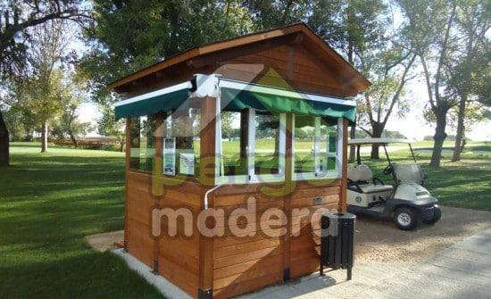 Campo de golf de la moraleja madrid casetas p rgolas y cerramiento en madera - Casetas de madera madrid ...