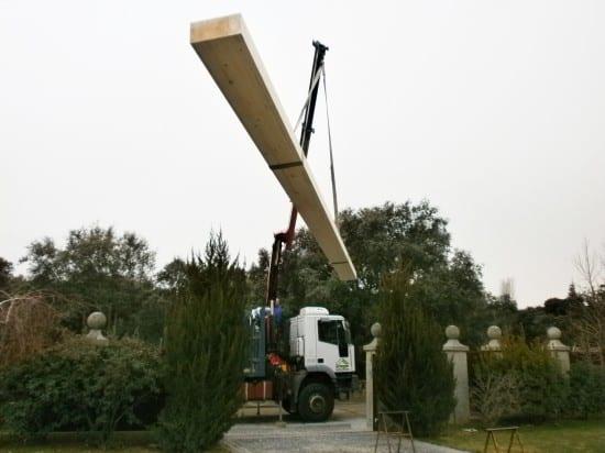 Secciones de madera para pérgolas