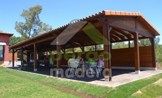 Cenador de madera Avila