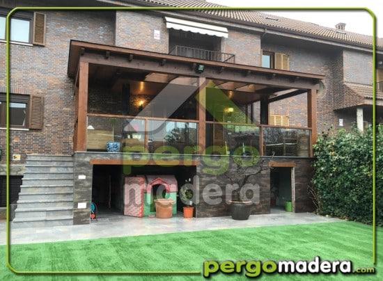 Terraza con porche de madera en las rozas madrid blog for Porche de jardin