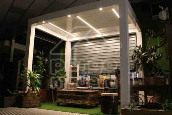 Blog pergomadera un espacio con ayuda para la - Iluminacion pergolas ...