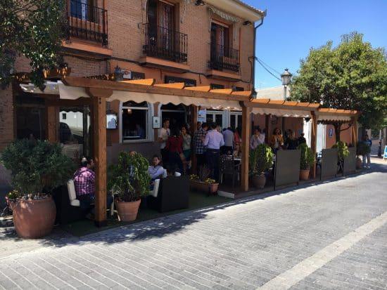 Pergola madera restaurante