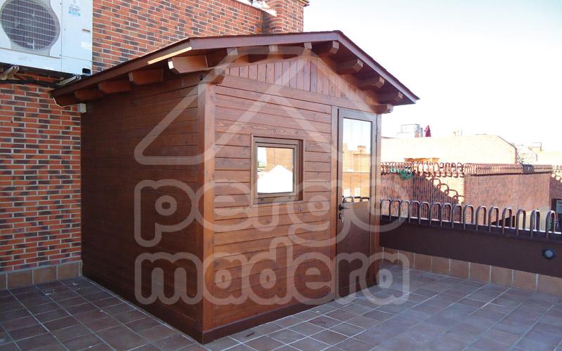 Cobertizos casetas y caba as de madera adosadas a la vivienda - Hacer caseta de madera ...