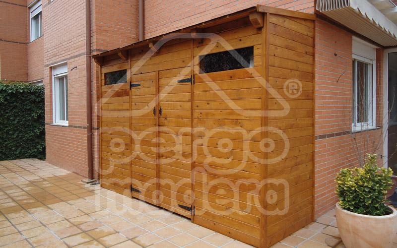 Cobertizos casetas y caba as de madera adosadas a la vivienda for Casetas para terrazas