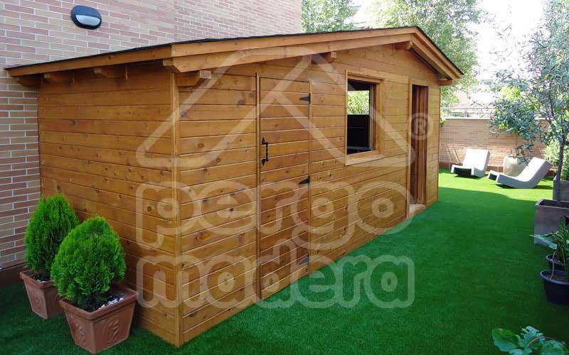 Casetas de madera a medida caseta de madera pergomadera for Casetas de metal para jardin