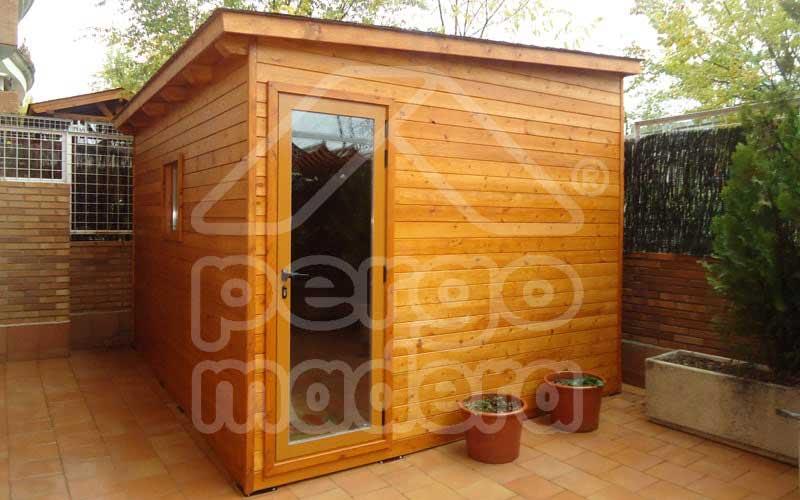 Casetas de madera para el jard n - Transferir fotos a madera ...