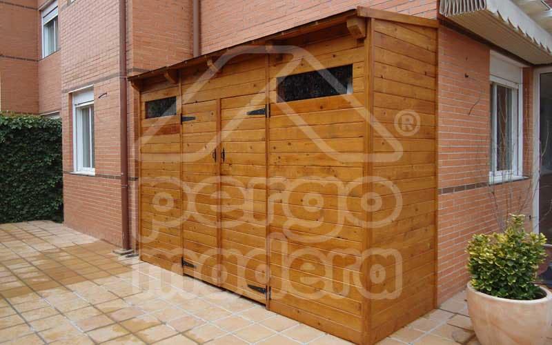 Casetas de madera a medida en madrid y toda espa a for Armarios para jardin exterior