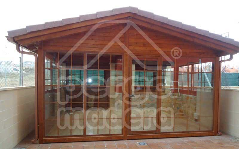 Casetas de madera a medida caseta de madera pergomadera for Casetas aluminio para terrazas
