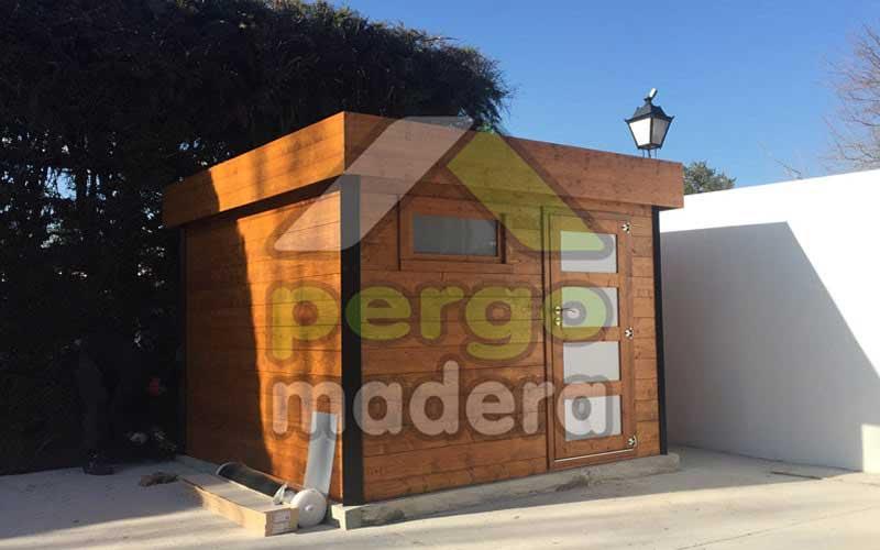 Casetas de madera a medida caseta de madera pergomadera for Precio de casetas