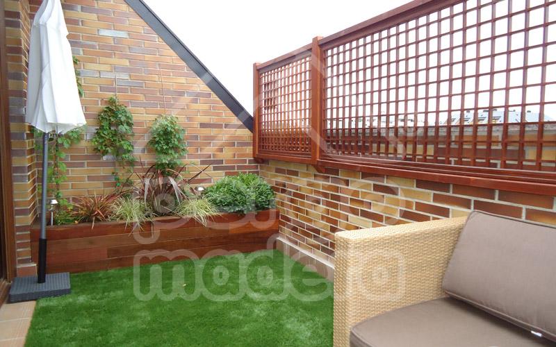 Celosias de madera celos a tico terraza y jard n for Celosia terraza