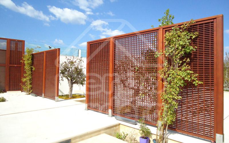 Paneles de madera para jardin celosa fija madera x cm for Caseta jardin ergo