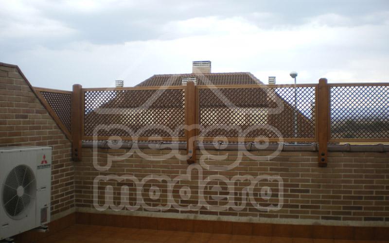 Celosias de madera celos a tico terraza y jard n - Celosia de madera ...