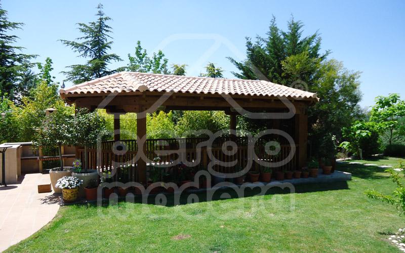 Gazebos madrid gazebo de jard n en madera pergomadera for Cenadores de jardin