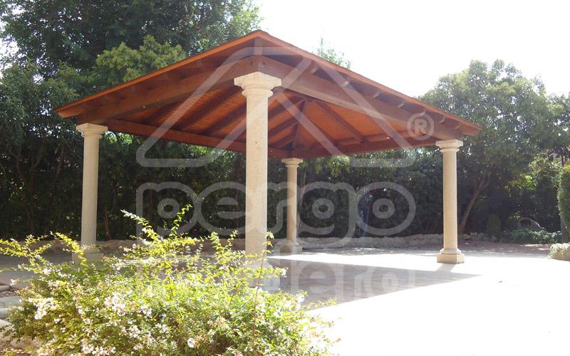 Cenadores cenadores de madera cenador de jardin madrid for Jardines con madera