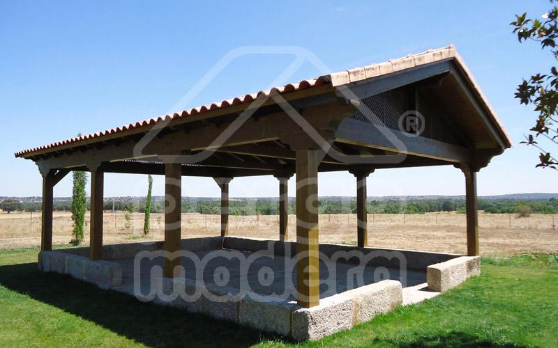 Cenadores cenadores de madera cenador de jardin madrid - Cubiertas para pergolas de madera ...