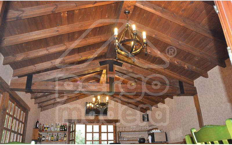 Cubiertas de madera Madrid | Techos forrados de madera PERGOMADERA