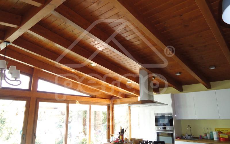 Cubiertas de madera y techos forrados de madera en madrid - Cubiertas para pergolas ...