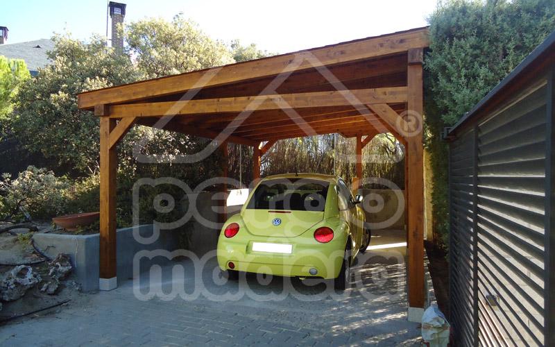 Pergolas de madera para garajes creativity for Cobertizos prefabricados