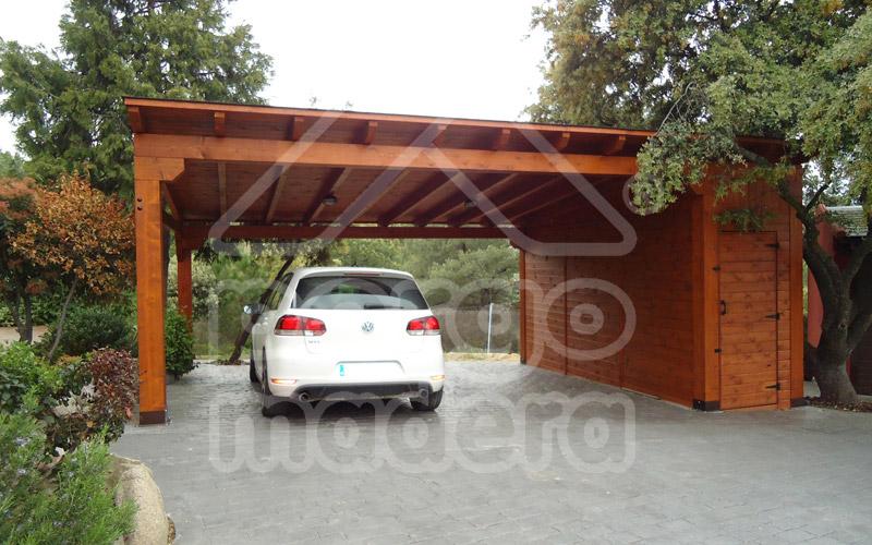 Garajes de madera madrid garaje de madera a medida for Zocalos para garajes