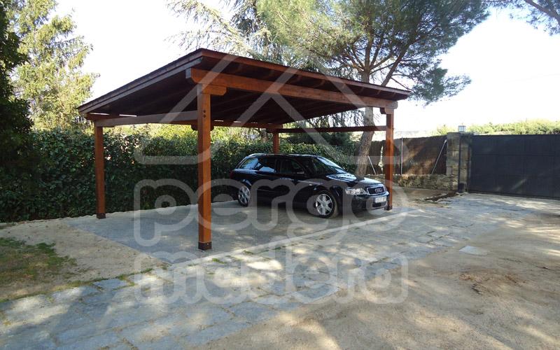 Garajes de madera madrid garaje de madera a medida - Pergolas de madera valencia ...