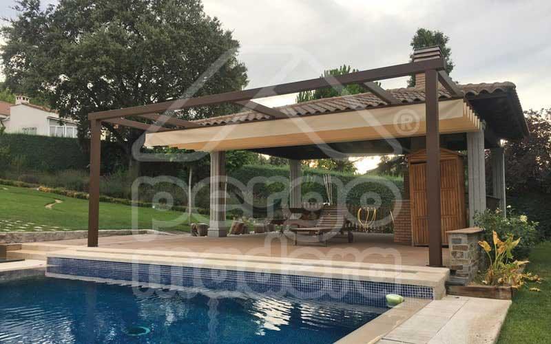 Pergolas de aluminio en madrid a medida con toldos techos - Aluminio para pergolas ...