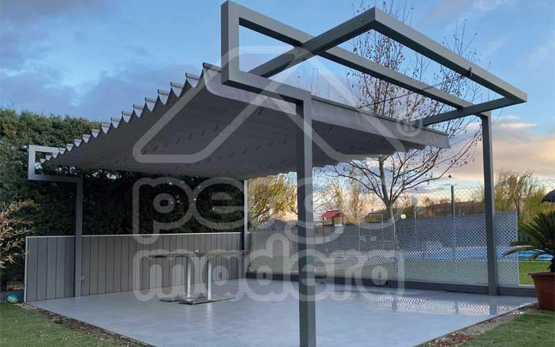 Pergolas en aluminio techo corredera con iluminacin pergolum pergolas de aluminio youtube - Perfiles aluminio para pergolas ...