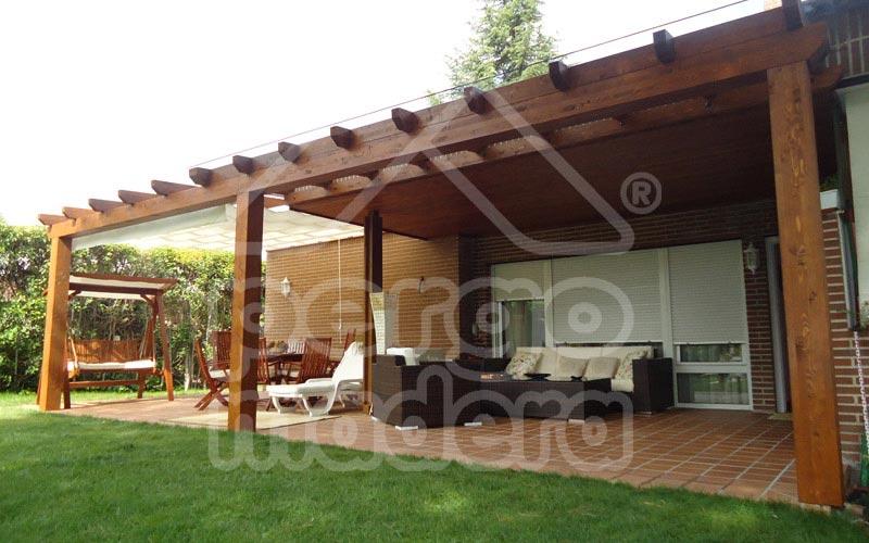 P rgolas r sticas o cl sicas de madera a medida pergomadera - Fotos pergolas de madera ...