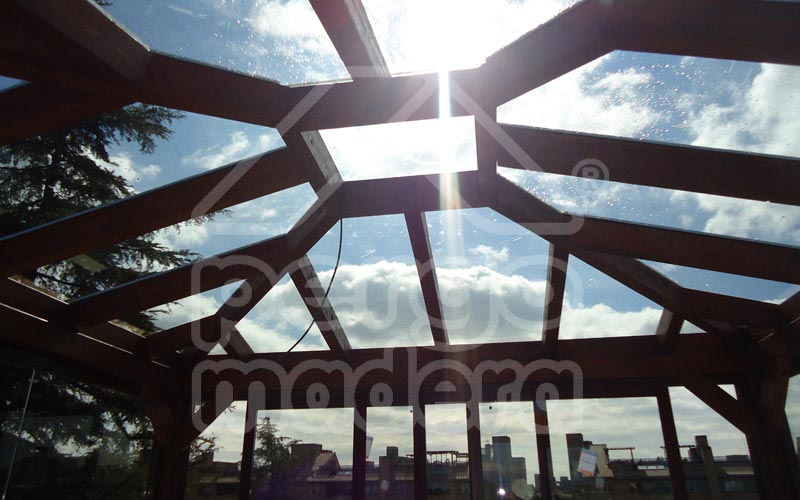 P rgolas acristaladas cerramiento de p rgola con cristal - Cubierta de cristal ...