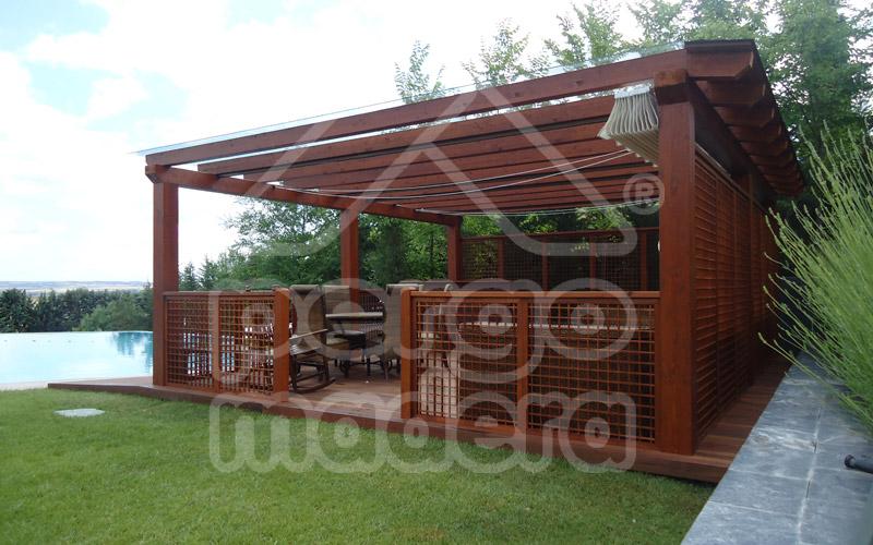 P rgolas de jard n p rgola de jard n independiente en madera - Pergolas para garajes ...