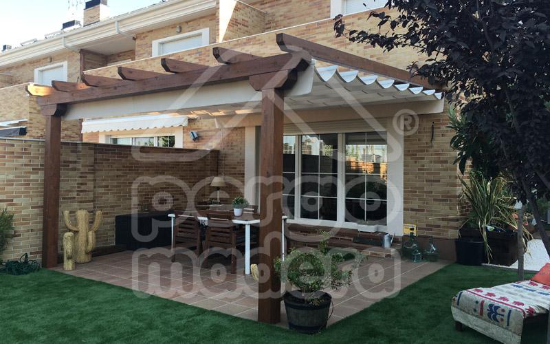 Pergolas madrid p rgolas madera aluminio bioclim ticas for Materiales para cubrir pergolas