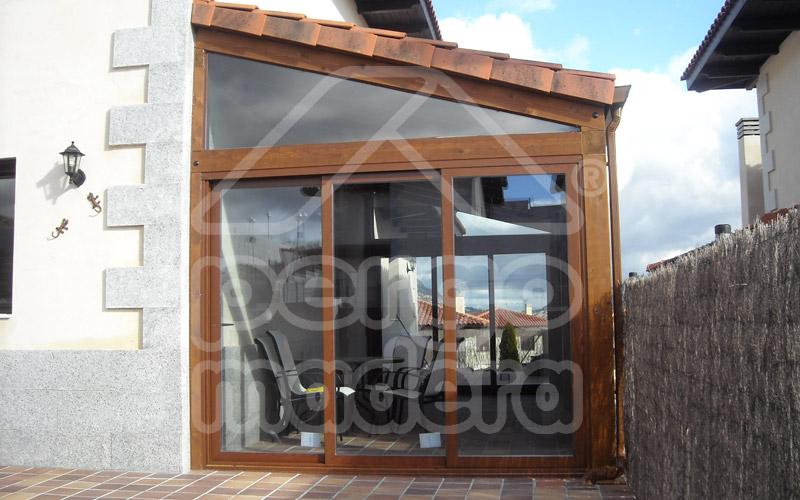 Cerramientos de porches acristalados madrid cerramiento for Cerramientos aluminio precios