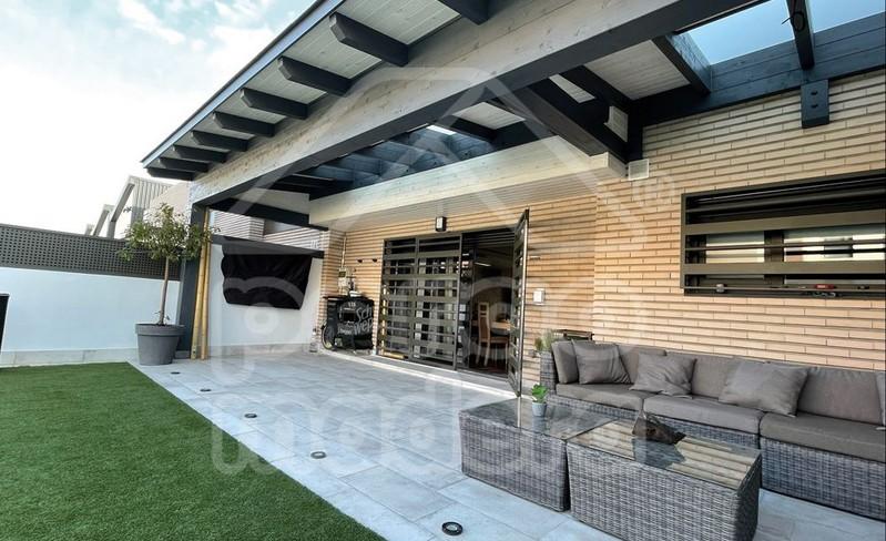 Porches de estilo moderno de madera - Madera para porches ...