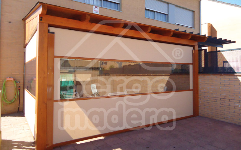 Toldos madrid estores carpas cortinas y toldos para for Estores de madera