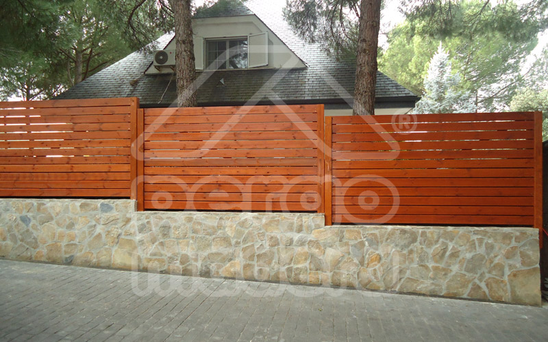 Vallas de madera barandillas de madera para jard n y piscina - Vallas de jardin ...