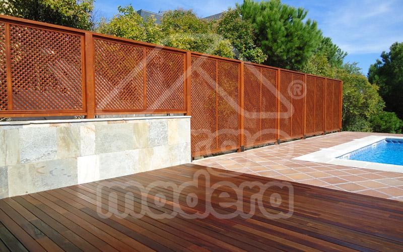 Vallas de madera madrid barandillas para jard n y piscina for Vallas de madera para piscinas