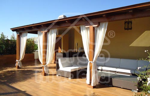 Pergolas baratas cenadores y porches de madera baratos - Madera para porches ...