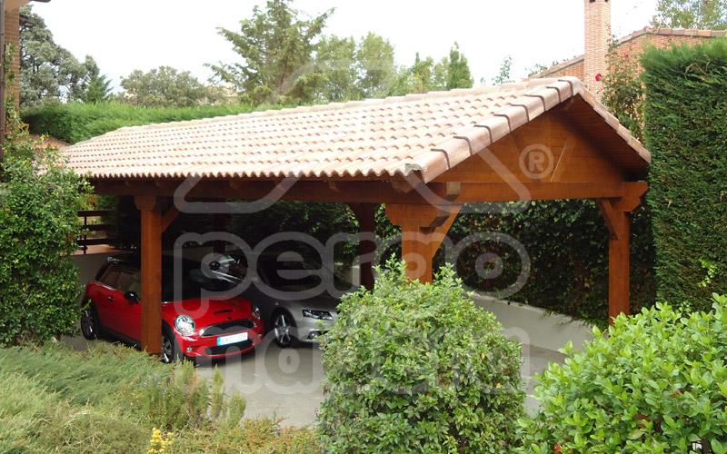 Pergolas y porches en madrid y toda espa a pergomadera - Pergolas de madera para coches ...
