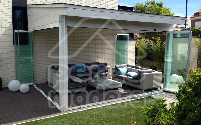 Porches de aluminio y madera aluminios noin gars porches - Porches cerrados de aluminio ...