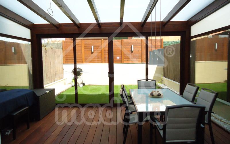 Pergolas baratas cenadores y porches de madera baratos - Porches de aluminio y cristal ...